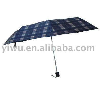 Grid Three Fold Umbrella