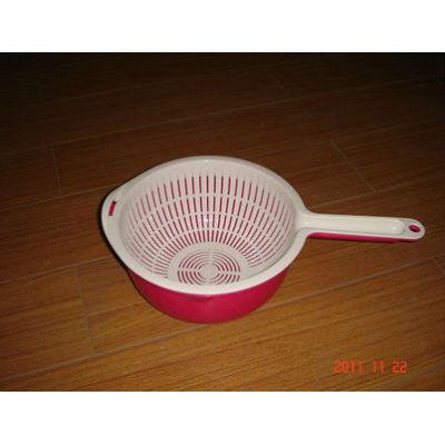 New handle mesh basket solid plastic small plastic baskets 4