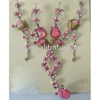 resin flower jewelry set
