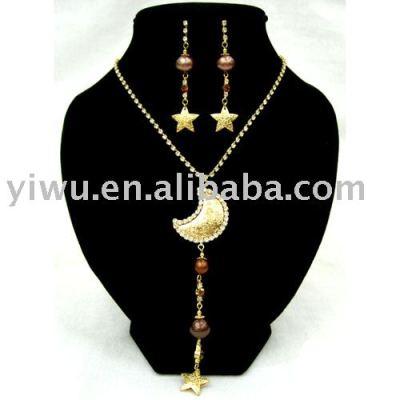 moon&star pearl jewelry set