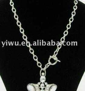 clear rhinestone zircon necklace