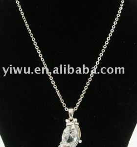 Clear zircon animal shape necklace