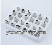 Seamless stainless steel piping mouth set(24pcs)
