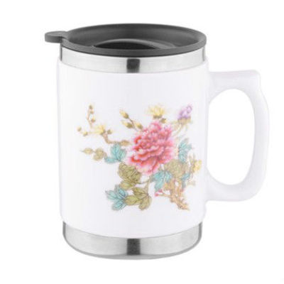 New stainless steel ceramic cup