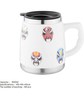New stainless steel ceramic cup 6013