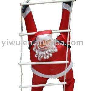 90cm pp cotton ladder santa claus