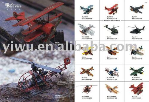Plane Model, Metal Plane Model, Antique Model