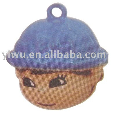 cute child with cap jingle bell