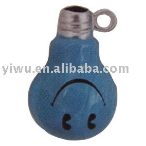 bulb shaped colorful smile face copper jingle bell
