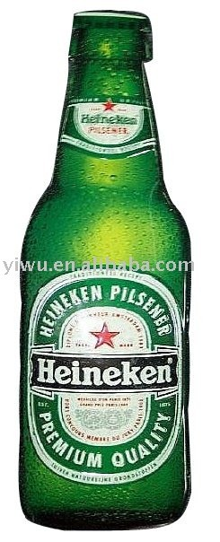 green beer bottle tin sign plate board