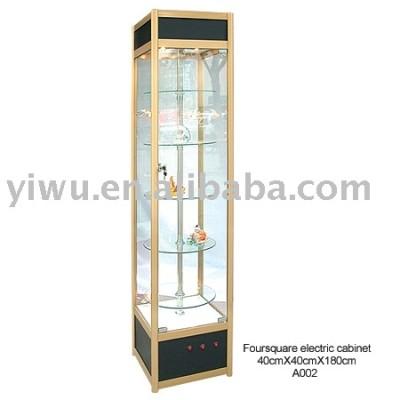 Glass tower showcase