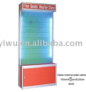 Glass jewelry display rack