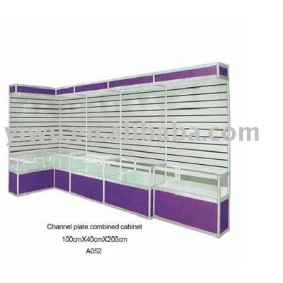 Slatwall display shelves