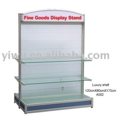 Glass display shelf