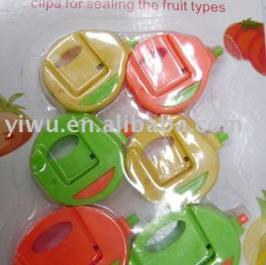 Clip for sealing the fruit types