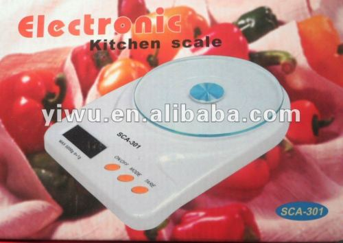 Kitchen scale, food scale, the nutrition scale, the batching scale, glass kitchen scale, range 5KG