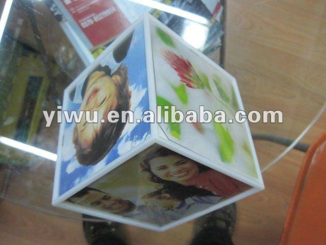 magic cube photo frame acrylic or pvc