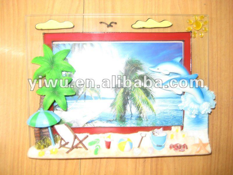 OEM resin photo frame sea world dolphin series