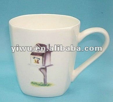 Ceramic Coffee Mug With Spoon
