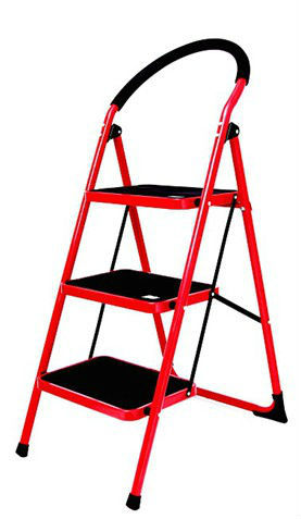 Steel round tube step ladder 3 steps 0.9 inch steel tube ladders