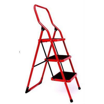 Steel rectangular tube step ladder 2-6 steps 0.9 inch steel tube ladders