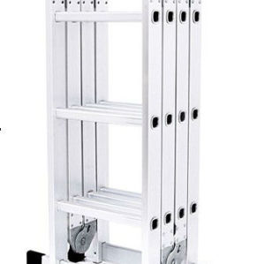 Multifunctional ladder 4*5 aluminium ladder easy folding aluminium ladder