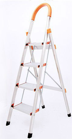 Stainless steel 4 steps ladder safety step ladders