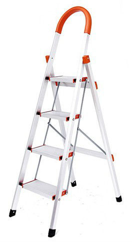 Household adjustable step ladder safety step ladders 4 steps alumnium ladder