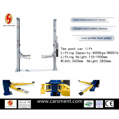 New product for 2013 Two post hydraulic vehicle lift with CE certificate