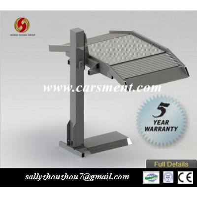 Single post vehicle parking lift 2500kgs