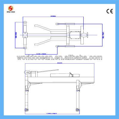 Hydraulic CE certified single post lift W2500-S