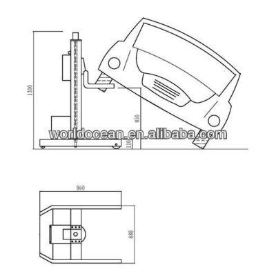 mini single post car lift WMINIZ1.2-1