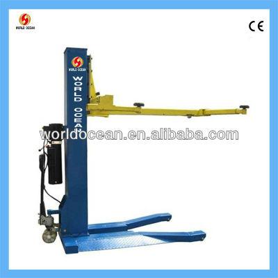 1 post portable car elevator hydraulic lift W2500-S
