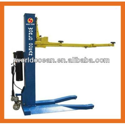 Portable movable single post hydraulic lift car lift