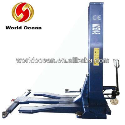 Single post car lift hydraulic lift