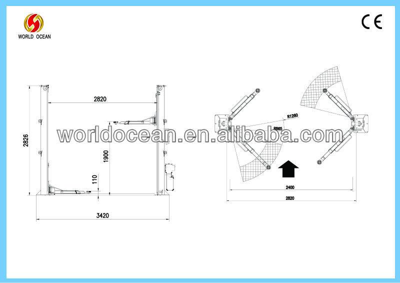 electric auto hoist car lifter WT4000-AE(CE)