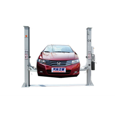 Floor plate asymmetric vehicle lift with bottom bar , solenoid lock release