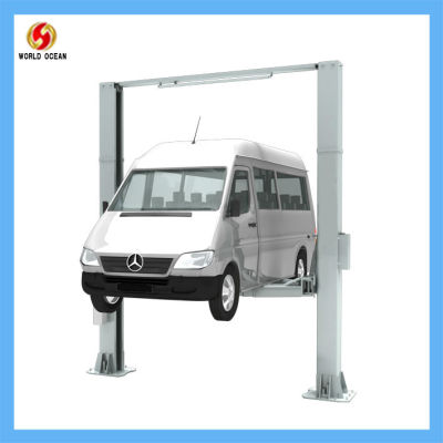 two sides lock release hydraulic vehicle lift