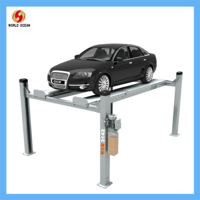 wow3142 four post lift second lift and wheel alignment device