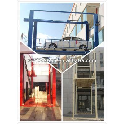 Two Floor Four Column Parking Elevator for 4s car park