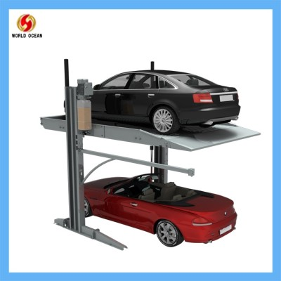Two Layer Two post Car Parking lift for Garage Parking system lifting 2.3ton