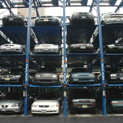 4 Level Mechanical Hydraulic Car Stacker Parking for new cars WP4-3p