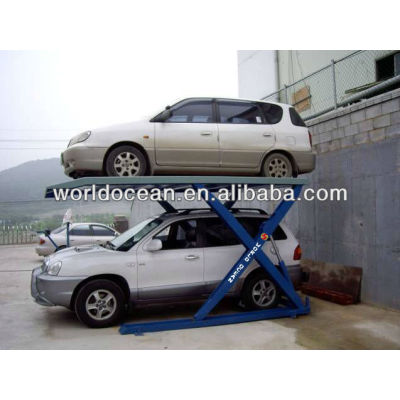 2.7t scissor parking lift;car parking lift WP2700-S