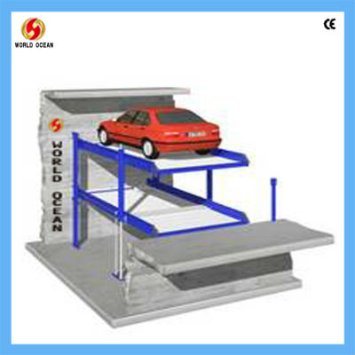 CE automated rotary double car parking system