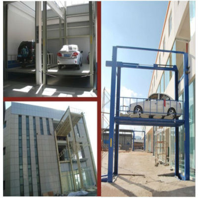 Safe and double strong chain structure outdoor car/goods lift elevators