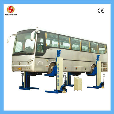 20 ton four post bus lift for bus/coach use with lifting height 1500mm