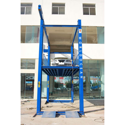 New Product for 2013 Hydraulic Crossing car hoist cargo lift for cars or goods