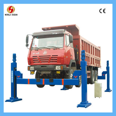 hydraulic used truck hoist for heavy truck/ bus/ large vehicle