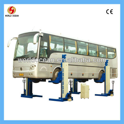 Pneumatic and hydraulic single post lift for car wash,WOW30-4C