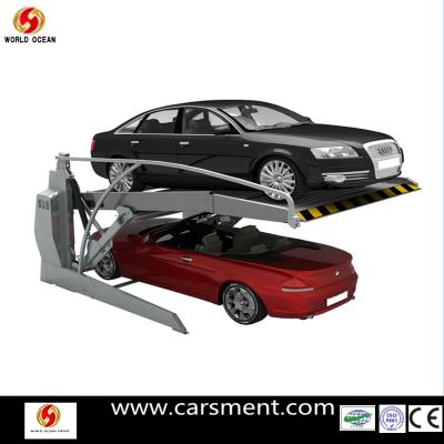 2013 Hot Sale 2 post Tilting Type Car Parking System